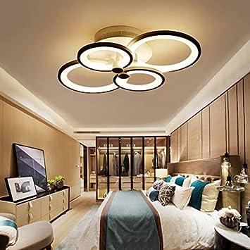 LLZXDD Plafón Gleam Control Remoto Salón Dormitorio Moderno ...