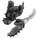 Mythical Guardian Dragon Knife on Display Stand