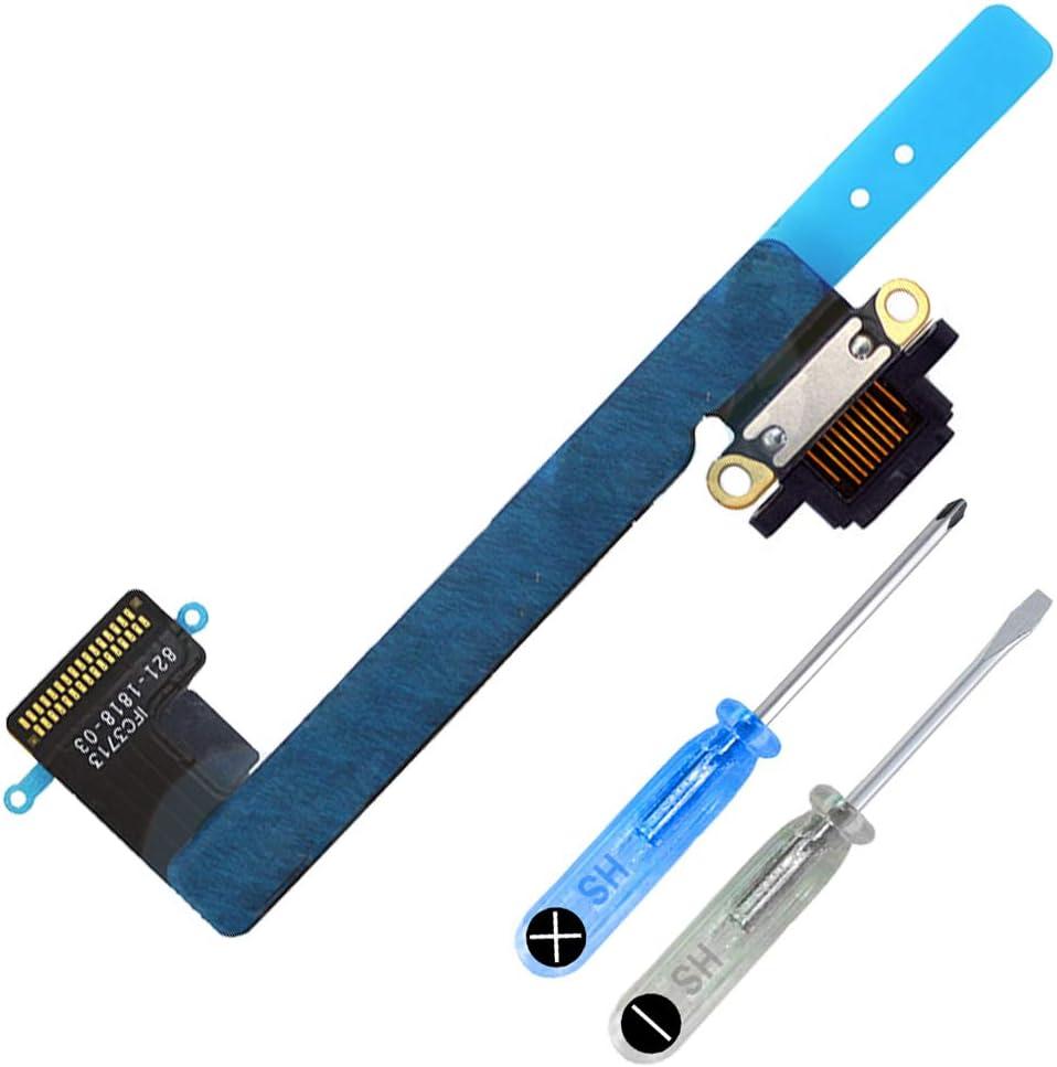 MMOBIEL Repuesto Conector Dock de Carga Compatible con iPad Mini 2/3 7.9 Plg. 2013/14 Incl. Herramientas (Negro)