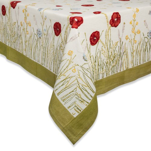 Couleur Nature Springfields Multi Tablecloth, 90-inches, Round
