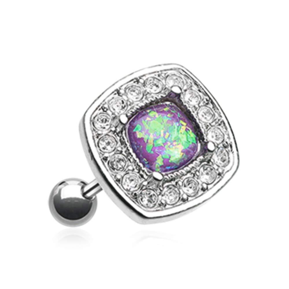 18 GA Opal Sparkle Essentia Cartilage Tragus Earring Davana Enterprises