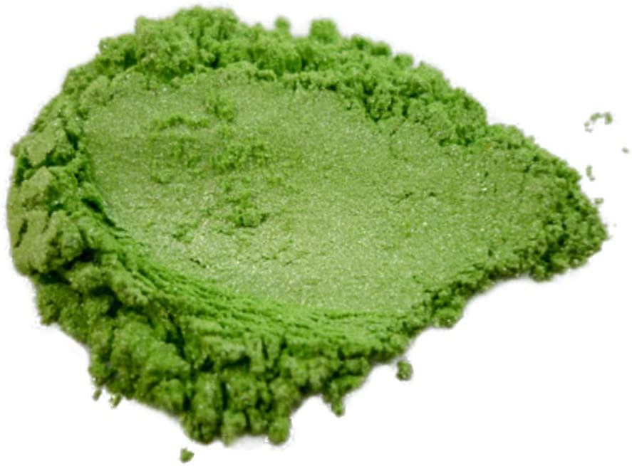 "42g/1.5oz ""GREEN APPLE"" Mica Powder Pigment (Epoxy,Resin,Soap,Plastidip) BLACK DIAMOND PIGMENTS"