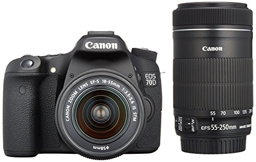 Canon EOS 70D with 18-55mm STM and 55-250mm STM Lenses - Int