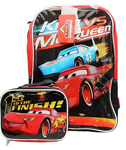 Disney Pixar's Cars King vs. McQueen Kids Backpack and Utility Bag - Mcqueen Vs King