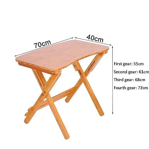 Table 87 HAIZHEN Mesa de bambú se Puede elevar y Bajar Mesa ...
