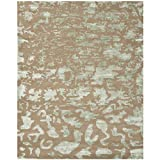 Safavieh Soho Collection SOH525B Handmade Taupe and Light Blue Premium Wool Area Rug (11′ x 15′) Review