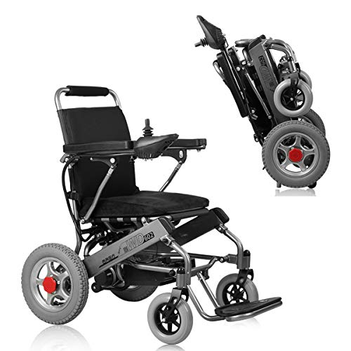 DOS Electric Wheelchair Ultra Portable Folding Powerchair, 250W 24V 20Ah Li-Ion Battery Weights Only 33 lbs