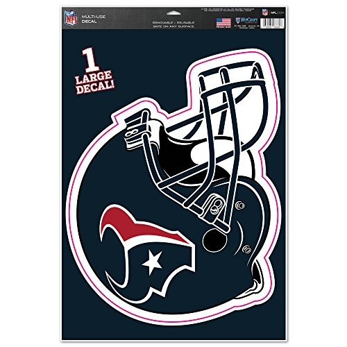 NFL Houston Texans Helmet Multi-Use Decal Sheet, 11 x 17-Inch