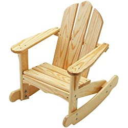 Little Colorado Child's Adirondack Rocking Chair- Unfinished