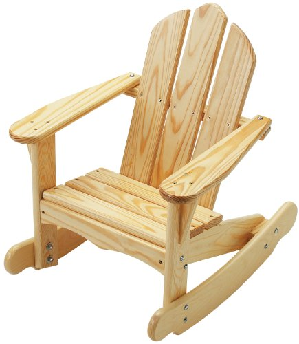 (Little Colorado Child's Adirondack Rocking Chair- Unfinished)