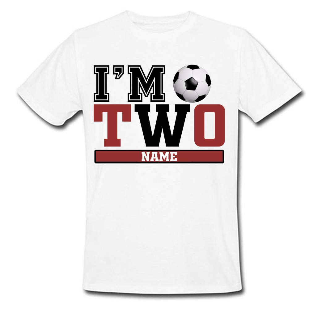 b9b3b662 Sprinklecart I'm Two Football Birthday T Shirt | Custom Name and Age  Printed Birthday Wear for Boys: Amazon.in: Clothing & Accessories