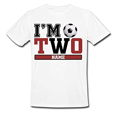 caee4f65 Sprinklecart I'm Two Football Birthday T Shirt | Custom Name and Age  Printed Birthday