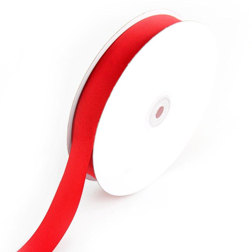 Creative Ideas 7/8-Inch Solid Grosgrain Ribbon, 50-Yard, Red GRO0708-250