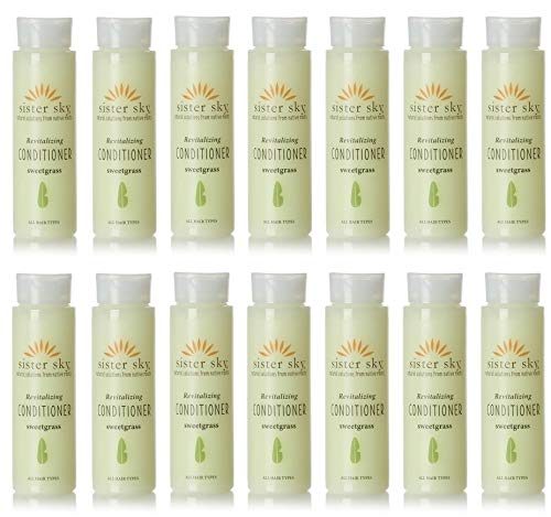 Sister Sky Revitalizing Sweet Grass Conditioner lot of 14 each 1oz bottles. Total of 14oz