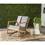 Rocking Chair, Cushioned, Indoor, Outdoor, Contemporary Design, Tan
