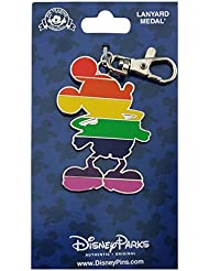 Disney Pin Accessory - Rainbow Mickey Mouse Pride Colors - Lanyard Medal