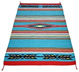 Beautiful Hand-Woven Serape Area Rugs Featuring Feather Hawkeye Pattern. Three Sizes to Choose From. (HA4X6FEATHER2)