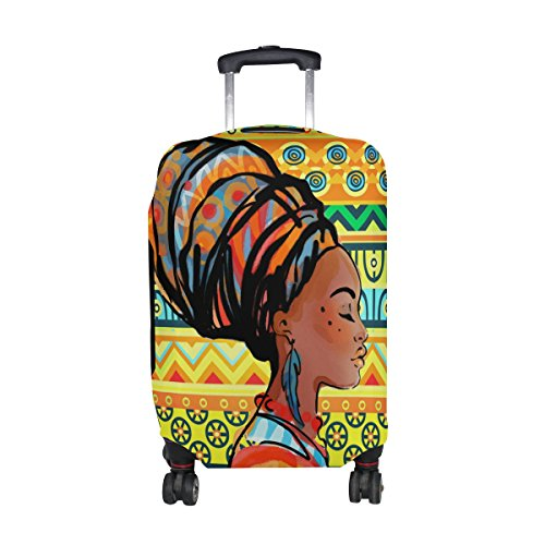 My Daily African Woman Tribal Striped Luggage Cover Fits 30-32 Inch Suitcase Spandex Travel Protector XL Review