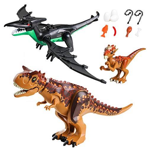CHICKEN TOYS Dinosaur Sets,2 Large Dinosaurs,1 Small Dinosaur,9 Dinos Figures Accessories