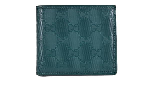 09e294434576 Gucci 145754 Men's Teal Imprime GG Guccissima Bifold Wallet: Amazon.ca:  Clothing & Accessories