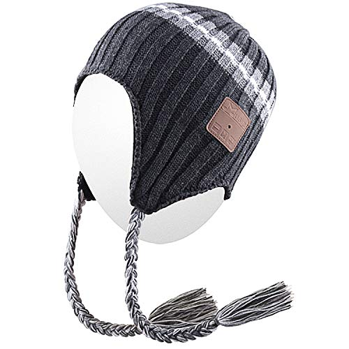 c55c7c49722 Qshell Trendy Wireless Bluetooth Beanie Hat Braid Headphones Headsets  Speaker Microphone for Womens Mens Lifestyle Outdoor Sports Skiing  Snowboard Hiking ...