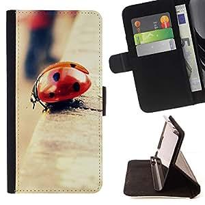 Momo Phone Case / Flip Funda de Cuero Case Cover - Mariquita Bokeh;;;;;;;; - Samsung Galaxy S6