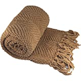 Home Soft Things Tweed Knitted Throw Blanket
