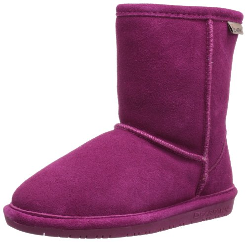 BEARPAW Emma 6.5 Inch Boot (Little Kid/Big Kid),Pom Berry,4 M US Big Kid