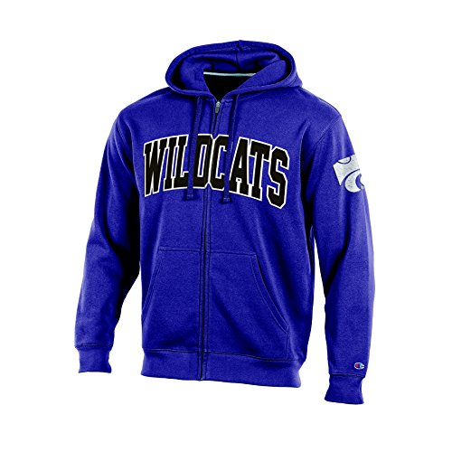 NCAA Kansas State Wildcats Men's Full Zip Hooded Fleece Sweatshirt, XX-Large, Purple