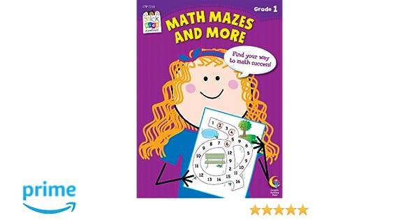 Amazon.com: Math Mazes and More Stick Kids Workbook, Grade 1 ...
