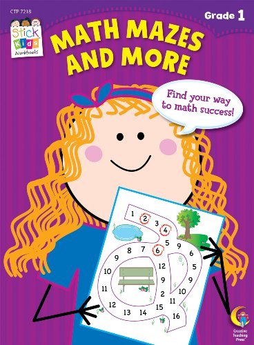 Math Mazes and More Stick Kids Workbook, Grade 1 (Stick Kids Workbooks)