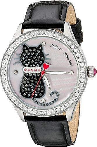 Betsey Johnson Women's BJ00517-06 Analog Display Quartz Black Watch
