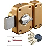 City - Verrou de haute sécurité pour porte jusqu à 45 mm 5 clés brevetées réversibles CITY R50