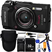 """Olympus Tough TG-5 Digital Camera (Black) Includes 32GB SD Memory Card & Extended Life Replacement Battery & 12"""" Gripster & Floating Wrist Strap & Micro HDMI to HDMI Cable & Point & Shoot Case & More!"""