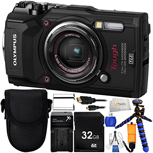 Olympus Tough TG-5 Digital Camera (Black) Includes 32GB SD Memory Card & Extended Life Replacement Battery & 12″ Gripster & Floating Wrist Strap & Micro HDMI to HDMI Cable & Point & Shoot Case & More!