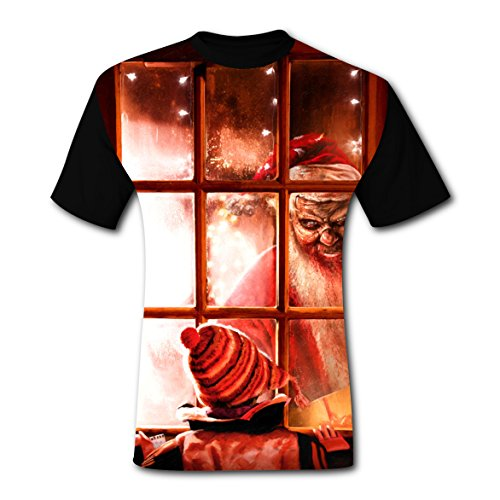 LZQ Tshirt Man Short Sleeve New Unique Tee Shirt 3D Personalized With Bad Santa Claus For Men -