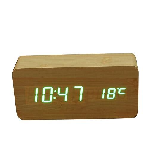 3 opinioni per Sveglia Digitale Display A Led Verde con Temperatura Di Controllo Del Suono In