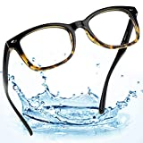 LifeArt Blue Light Blocking Computer Reading Glasses with Transparent Lens for Women/Men 0.00(No Magnification)