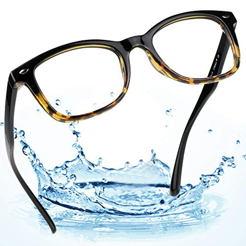 (LifeArt Blue Light Blocking Computer Glasses, Transparent Lens Filter UV400,Alleviate Headache [Anti Eye Eyestrain],Stylish Reading Glasses for Women/Men (La_Drama_Tortoise, 0.75 Magnification))