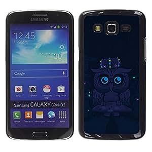 Smartphone Rígido Protección única Imagen Carcasa Funda Tapa Skin Case Para Samsung Galaxy Grand 2 SM-G7102 SM-G7105 Cute Funny Night Owl / STRONG