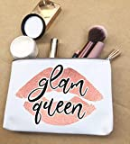 Makeup Bag Canvas Pouches For Lipstick Glam Queen Funny Gift