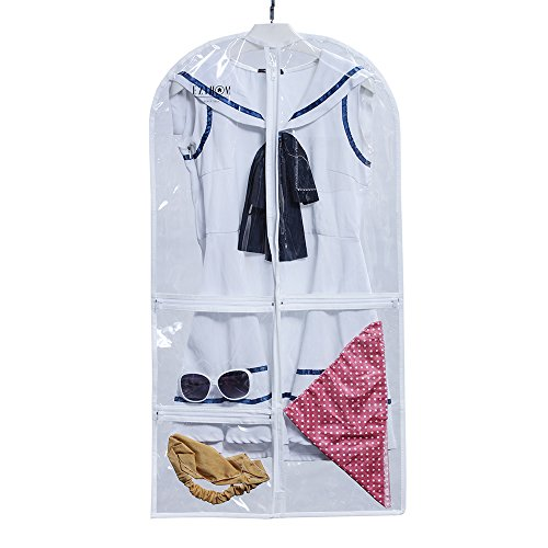 EZIHOM Costume Clear Plastic Garment Bag with Pockets for Dance (Children's Dance Costumes For Competition)