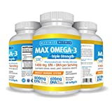 Max Omega 3 Fish Oil Pills – Triple Strength Fish Oil Supplement (2000 mg Total Omega 3 Fatty Acids: 600mg DHA + 800 mg EPA per Serving) Review