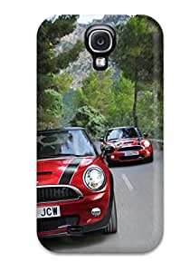 New Style Case Cover CSLKjgO19141ckFPP Mini Cooper Jcw Pursuit Duo Red Black Stripes Road Cars Other Compatible With Galaxy S4 Protection Case