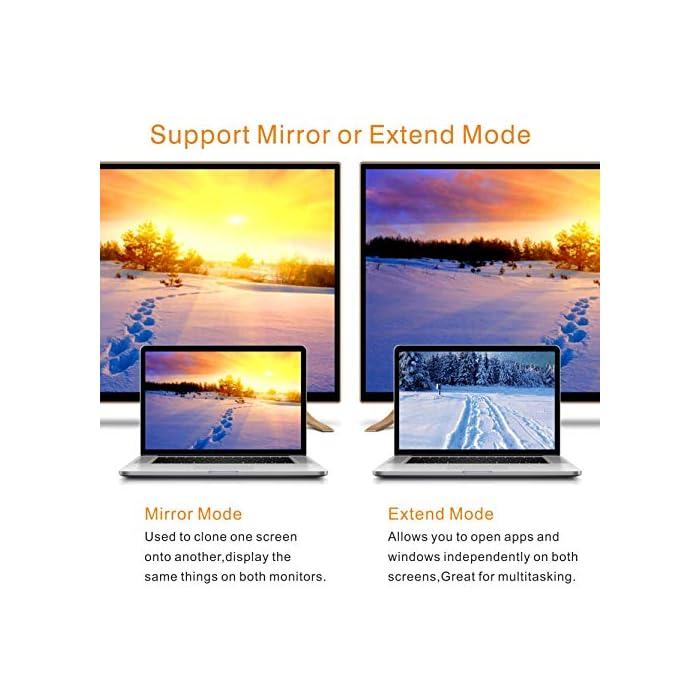 51S8p58jwLL Haz clic aquí para comprobar si este producto es compatible con tu modelo 【Adaptador USB a HDMI】: Este adaptador USB HDMI puede conectar una PC o computadora portátil a través de la interfaz USB a un HDTV, monitor o proyector con interfaz HDMI. Admite sincronización de audio y video, compatible con Windows XP, Windows 7, Windows 8 / 8.1, Windows 10. 【1080P compatible con USB 3.0】El puerto USB 3.0 está equipado con un chip avanzado que permite una transmisión de señal estable. Resolución de video de hasta 1080P y admite pantalla 3D, puede admitir visualización a 1920x1080P @ 60Hz en la pantalla cuando se conecta a USB 3.0. La velocidad de transmisión de USB 3.0 es de hasta 5 Gbps.