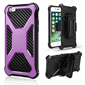 iPhone 6 6S Case, Jessica Shock-Absorption / High Impact Swivel Belt Clip Holster Armor Combo Kickstand Feature Protective Cool Case Defender Cover for iPhone 6 6S 4.7 Inch