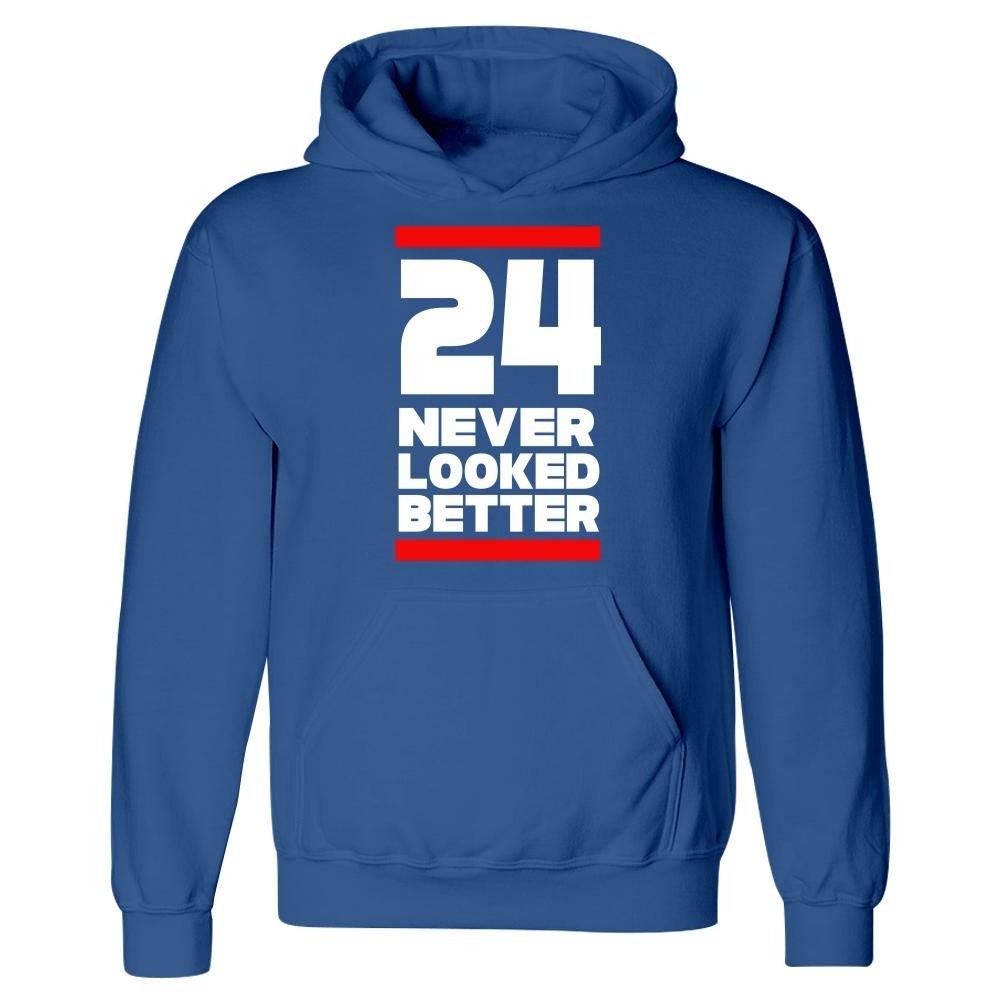 Hoodie BADASS REPUBLIC 24th Birthday Gift 24 Never Looked Better for him or her