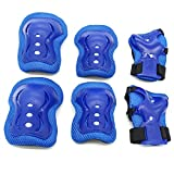 Toys : Kids Protective Gear,Knee Pads Elbow Pads Wrist Guards 3 In 1 set For Inline Roller Skating Biking Sports Safe Guard