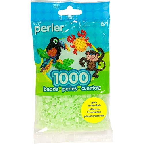 Perler Green Glow In The Dark Beads for Kids Crafts, 1000 pcs -