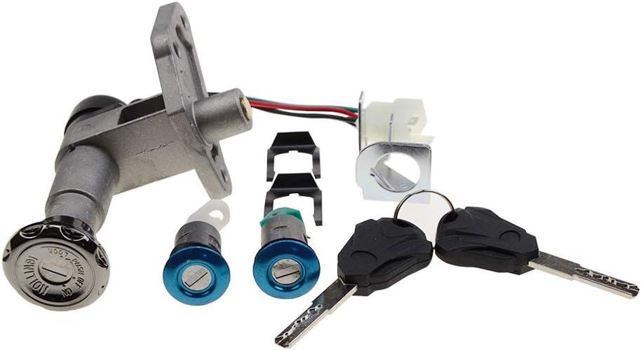 GOOFIT Juego de Llave de Interruptor de Encendido Apto para 150cc Chino Ciclomotor Esc/úter